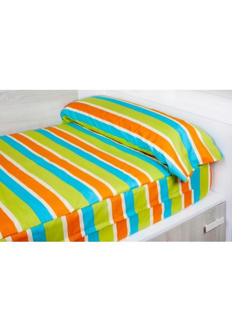 """""""Prêt à dormir"""" extensible et zippé - FACE orange"""