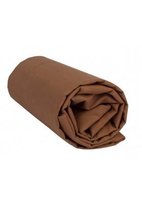Drap Housse Marron Chocolat Uni