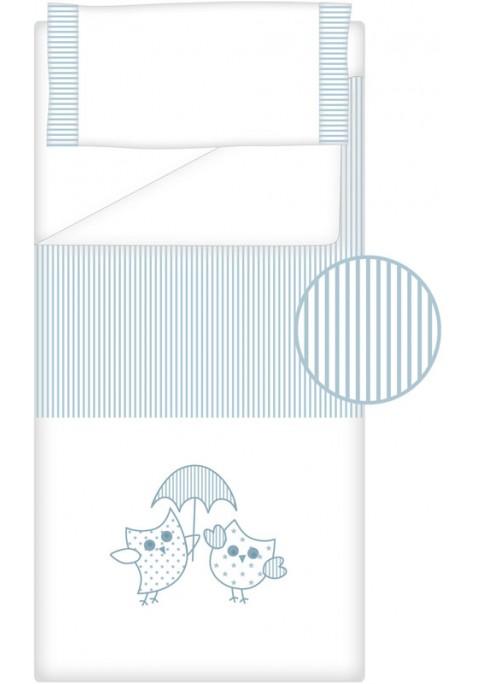Prêt à Dormir Zippé Non-Extensible Coton et Piqué – Dpkes LOVERS bleu