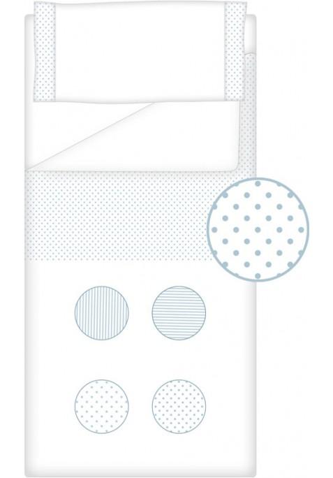 Prêt à Dormir Zippé Non-Extensible Coton et Piqué – Dpkes FUNNY bleu
