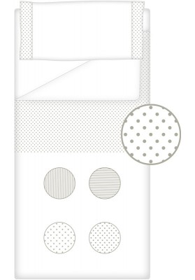 Prêt à Dormir Zippé Non-Extensible Coton et Piqué – Dpkes FUNNY gris
