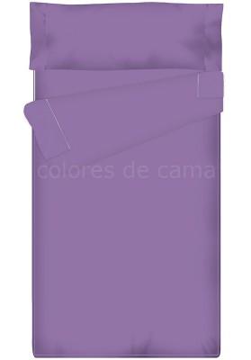 """""""Prêt à dormir"""" extensible et zippé - UNI lilas"""