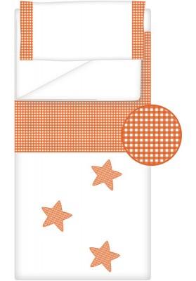 Prêt à Dormir Zippé Non-Extensible Coton et Vichy Carré – Dpkes STELLA orange