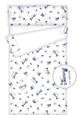 Prêt à dormir enfant zippé - GIRAFFE blanc