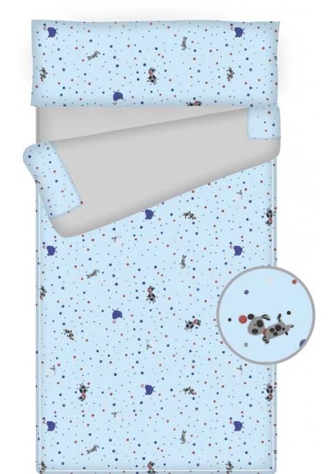 Prêt à dormir enfant zippé - PUPPY bleu