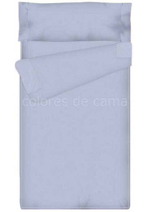 Prêt à dormir Zippé et Extensible Avec - Uni Bleu Clair - 175 x 215 cm - Couette 250 gr/m2