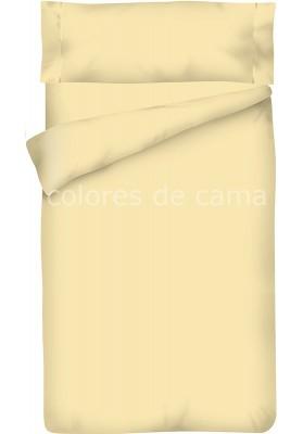 Housse de Couette Beige Unie + Taie d'Oreiller