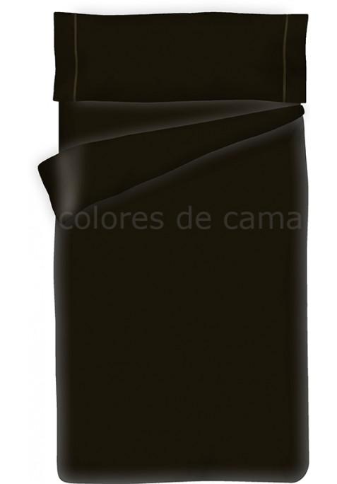 Parure de Couette Noir Unie - Housse de Couette + Taie d'Oreiller