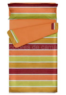 """""""Prêt à dormir"""" extensible et zippé - ALBA orange"""