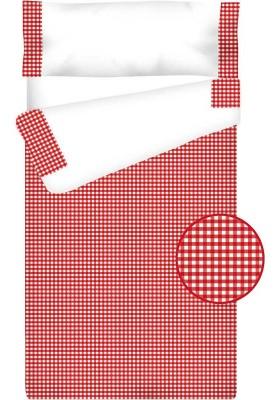 Prêt à Dormir Enfant Zippé Coton – VICHY CARRÉ rouge