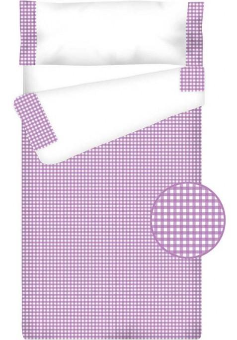 Prêt à Dormir Enfant Zippé Coton – VICHY CARRÉ lilas