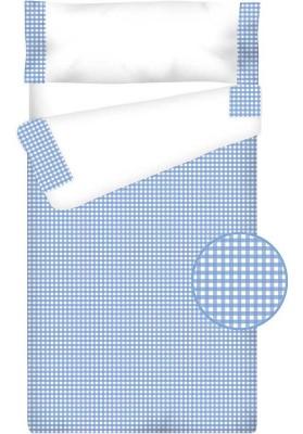 Prêt à Dormir Zippé et Extensible Coton – VICHY CARRÉ bleu clair