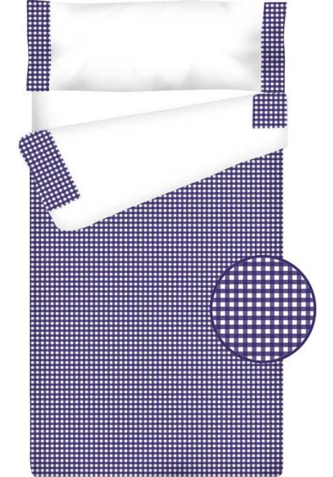 Prêt à Dormir Zippé et Extensible Coton – VICHY CARRÉ bleu foncé