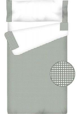 Prêt à Dormir Zippé et Extensible Coton – VICHY CARRÉ gris