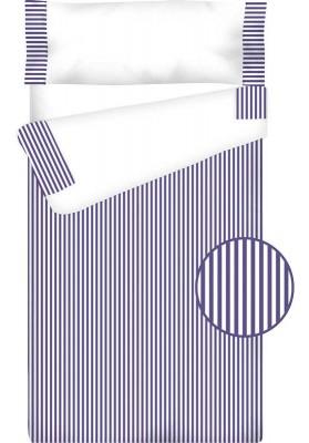 Prêt à Dormir Zippé et Extensible Coton – VICHY RAYURE bleu foncé